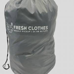 front view of the polyester fresh clothes logo bag